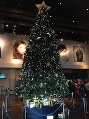 Christmas tree in Entrance Hall at WB Studio Tour, 2012