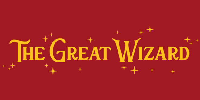 The logo for the merchandise store the Great Wizard, located in Edinburgh, Scotland.