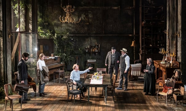 "Toby Jones and Ciarán Hinds perform a scene from ""Uncle Vanya""."