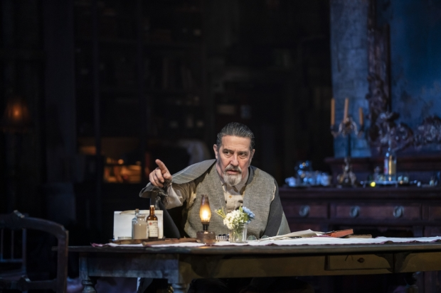 "Ciarán Hinds performs a scene from ""Uncle Vanya""."