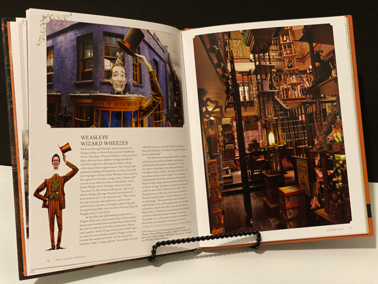 """Harry Potter: Film Vault: Volume 2"", inside"