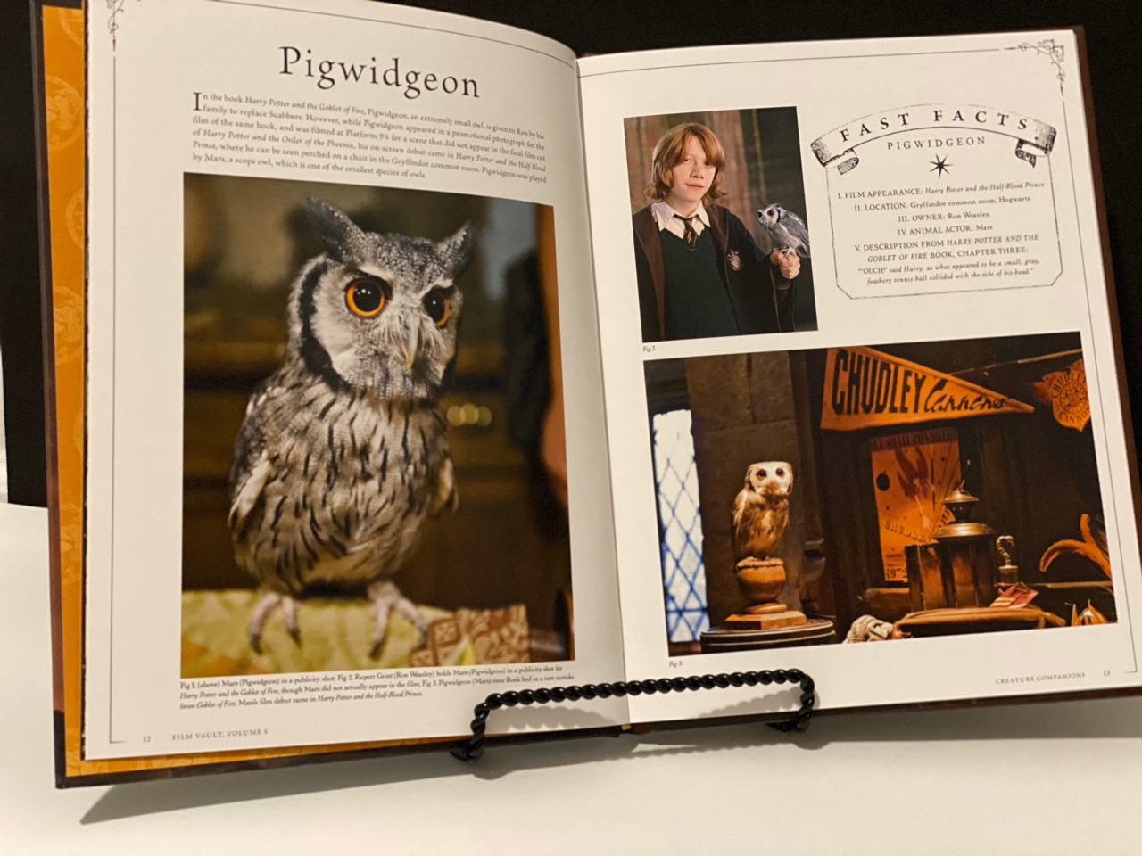 """Harry Potter: Film Vault: Volume 5"", inside"
