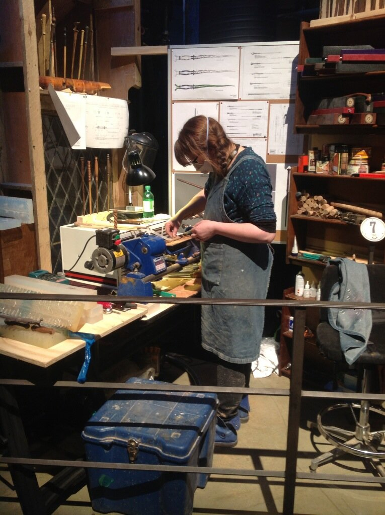 Wand-making at WB Studio Tour during Wand Week, 2013