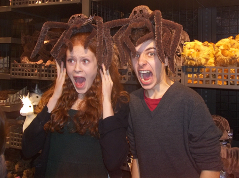 Will Dunn (James Sirius Potter) in gift shop at WB Studio Tour, 2012