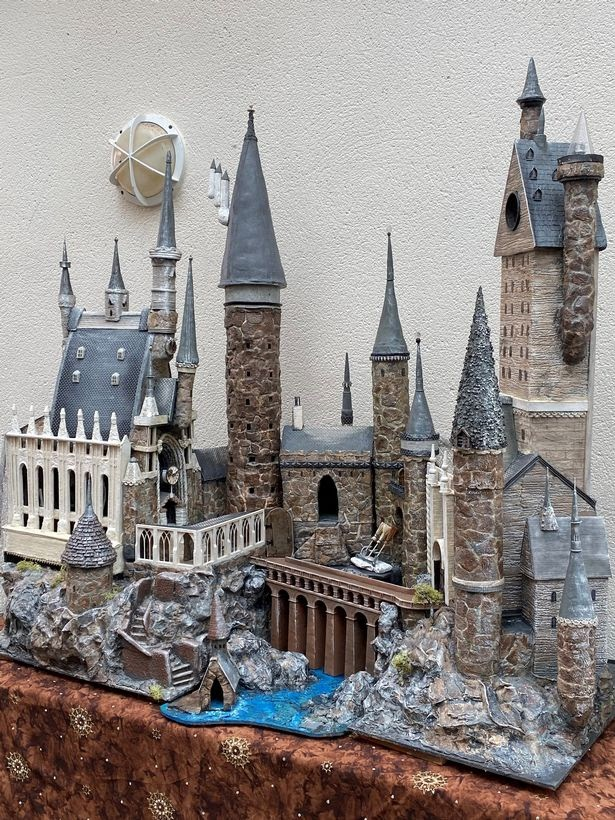 Clarke asked friends for donations of materials to make the castle.