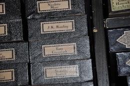 J.K. Rowling's wand box at WB Studio Tour, 2012
