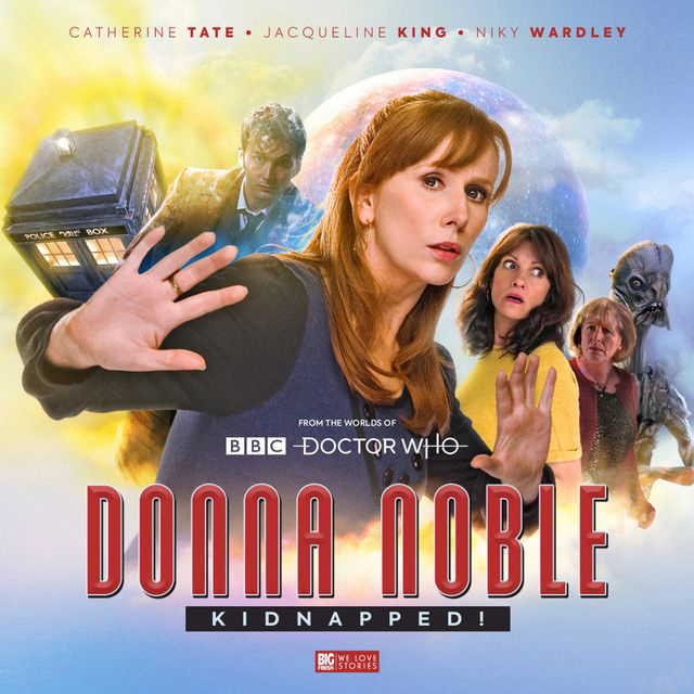 "David Tennant is seen on a promotional poster for ""Donna Noble: Kidnapped""."