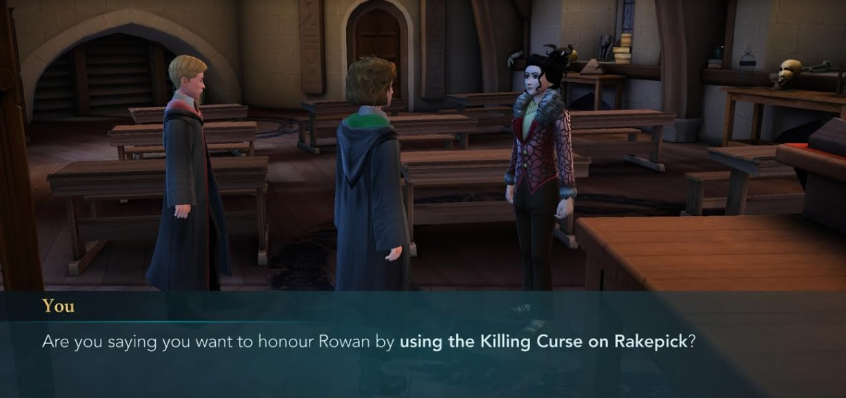 "Merula Snyde wants to avenge Rowan Khanna's death in ""Harry Potter: Hogwarts Mystery""."
