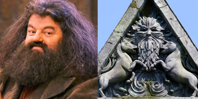 Hagrid and Green Man image from Hagrid's Magical Creatures Motorbike Adventure