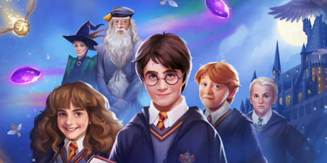 "Key art for ""Harry Potter: Puzzles & Spells"" from Zynga is pictured."