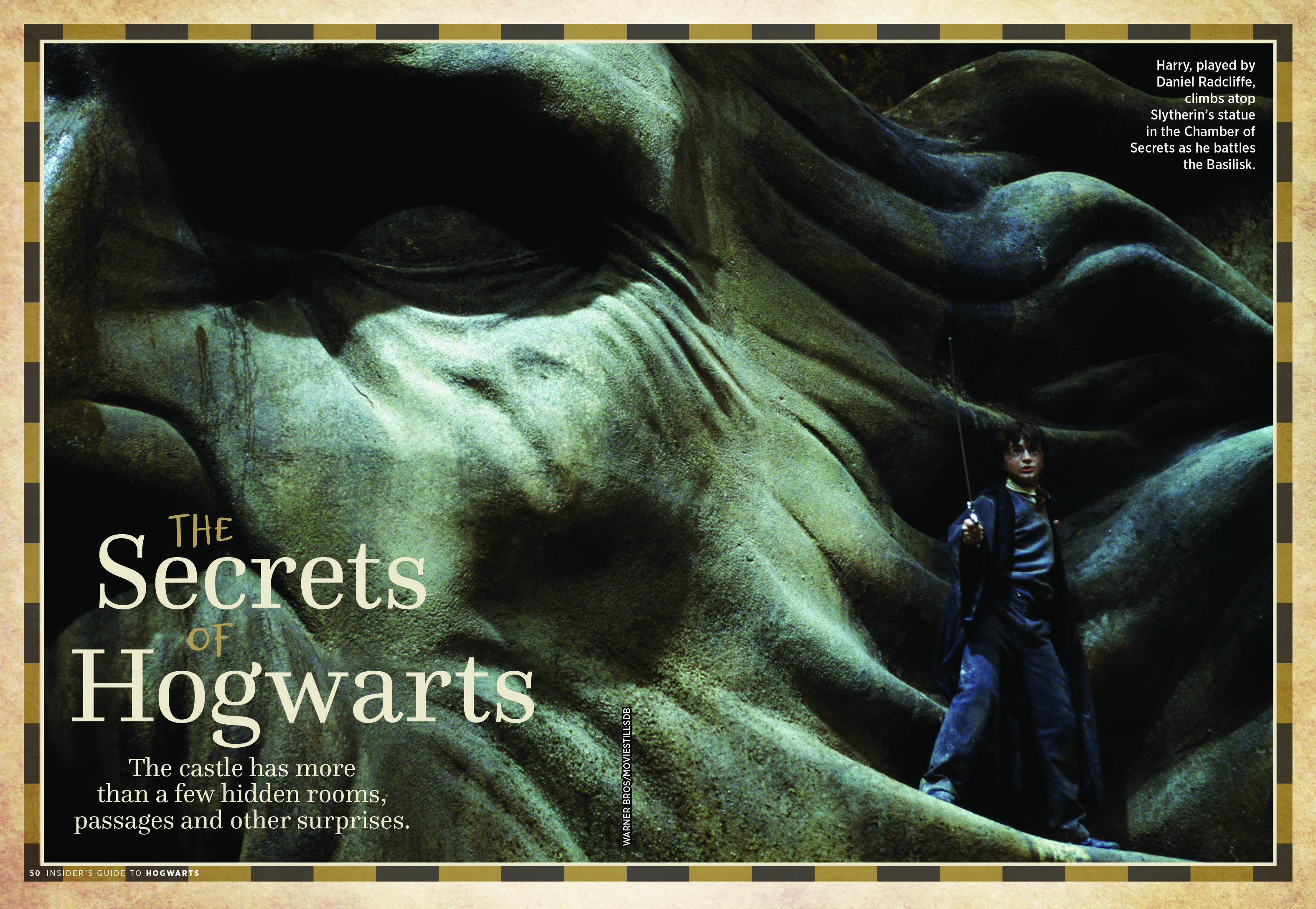 "Insider's Guide to Hogwarts – ""The Secrets of Hogwarts"" spread"