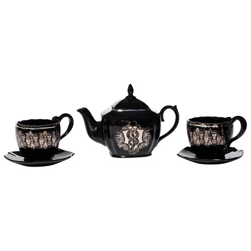 Invite all your evil cronies over for tea and crumpets with this Enesco Dark Arts Tea Set!
