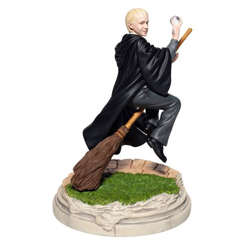 Draco Malfoy is apparently still gloating over absconding with Neville Longbottom's Remembrall in this statue from Enesco.