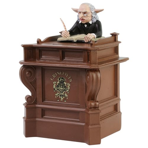 Hoard all of your loot in this Gringotts Goblin Bank from Enesco.