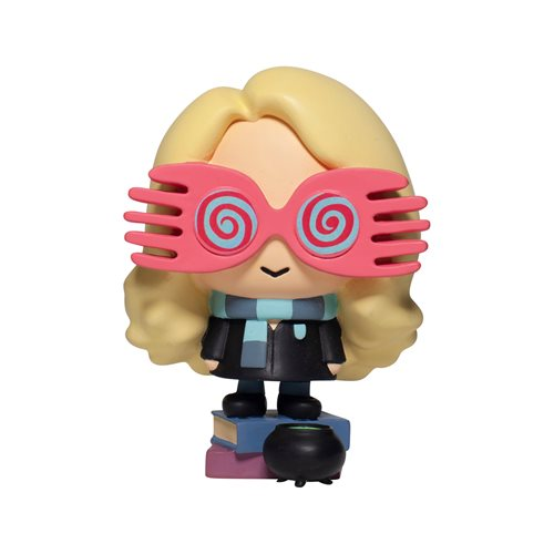 Luna Lovegood's Spectrespecs are larger than her head to adorable effect in this Enesco Charms Style Statue.
