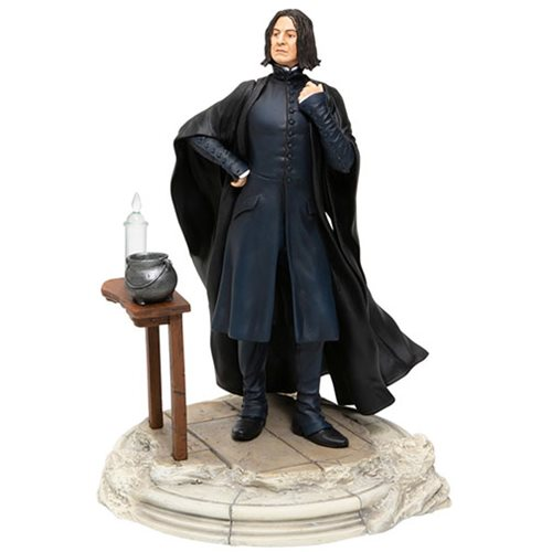 Professor Severus Snape is, as usual, offended by your existence in this statue from Enesco.