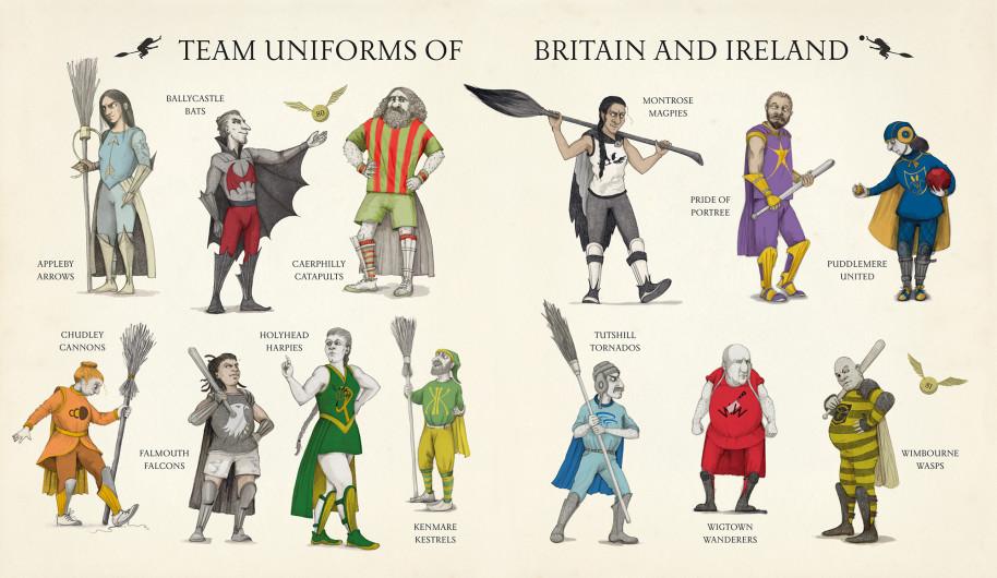 Gravett has illustrated the fantastic uniforms of the British and Irish teams.