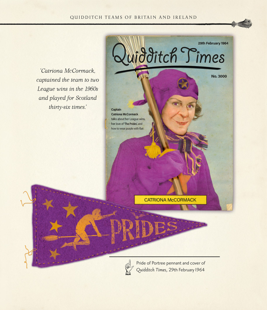 """The 1964 edition of """"Quidditch Times"""" featured Catriona McCormack, captain of the Prides."""