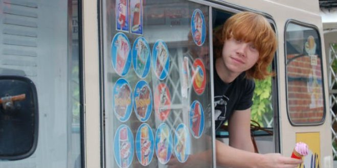 Rupert Grint Ice Cream Van