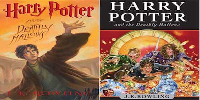 "This is the book cover for ""Harry Potter and the Deathly Hallows"""