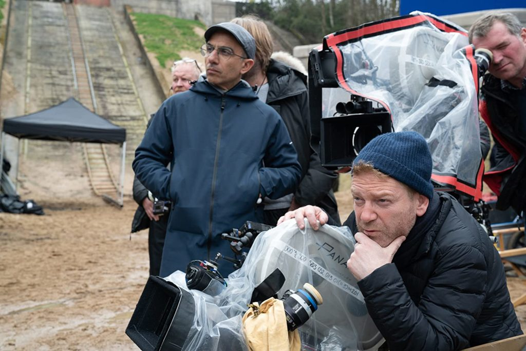 "Sir Kenneth Branagh surveys the scene while directing ""Artemis Fowl""."