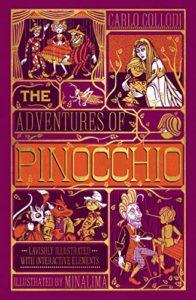 The cover of MinaLima's edition of Pinocchio by Carlo Collodi