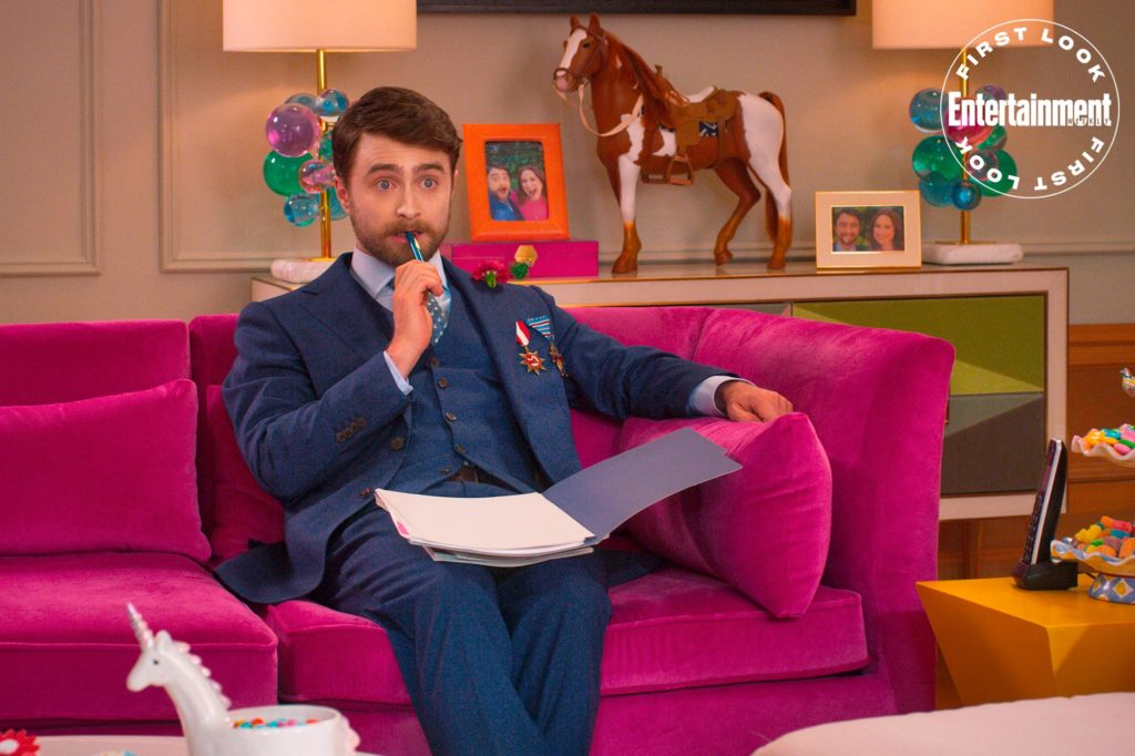 """Daniel Radcliffe portrays the quirky Prince Frederick Windsor in """"Unbreakable Kimmy Schmidt: Kimmy vs. the Reverend""""."""
