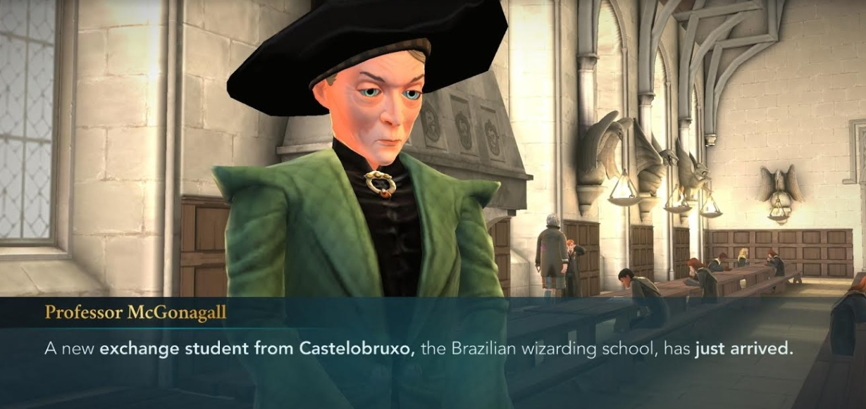 """A student from Castelobruxo is about to make an appearance in """"Harry Potter: Hogwarts Mystery""""."""