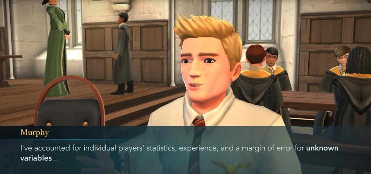 "Murphy McNully is still talking in ""Harry Potter: Hogwarts Mystery""."