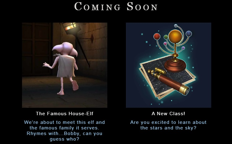 """Hogwarts Mystery"" hints that Dobby and Professor Sinistra will be coming soon."