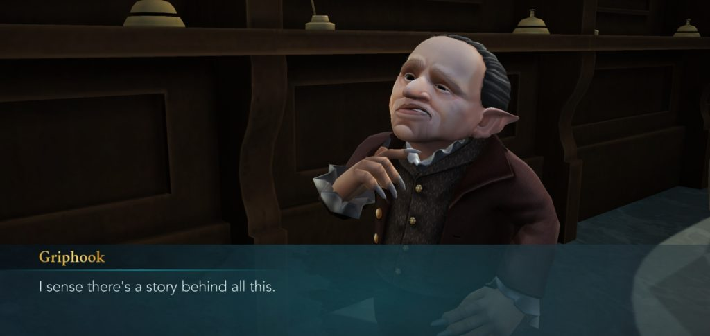 "Griphook recognizes there's more to every story in ""Hogwarts Mystery""."