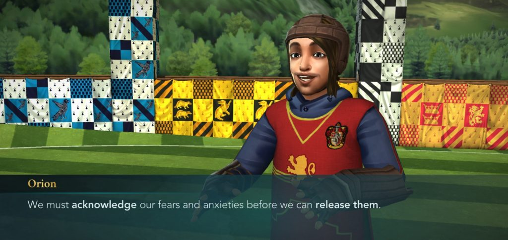 "Orion Amari offers up philosophical advice in ""Hogwarts Mystery""."
