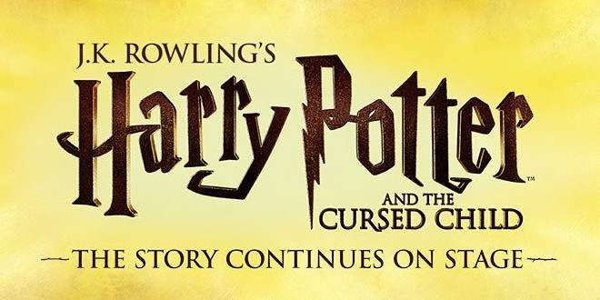 "The ""Harry Potter and the Cursed Child"" logo is pictured as a featured image."