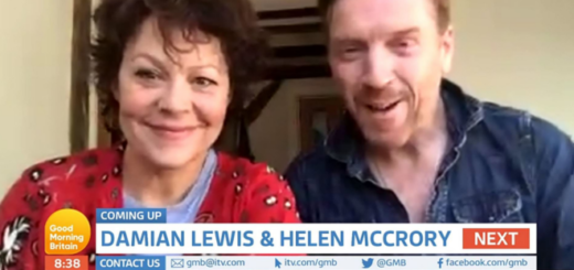 Married actors Helen McCrory (Narcissa Malfoy) and Damian Lewis appear on Good Morning Britain while quarantined.