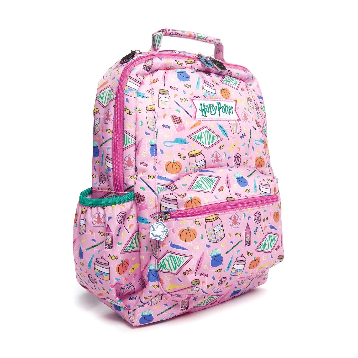 JuJuBe Honeydukes backpack, side view expanded