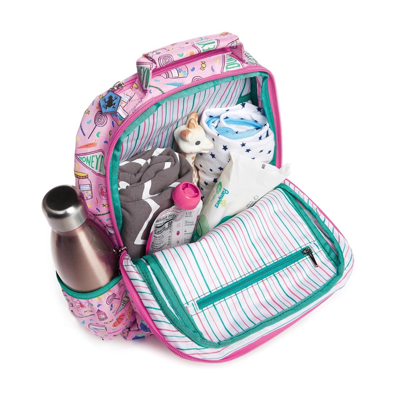 JuJuBe Honeydukes backpack, unzipped