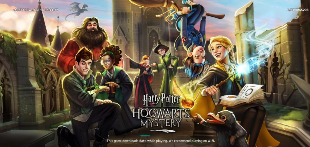"A new loading graphic depicts your friends in vibrant color in ""Harry Potter: Hogwarts Mystery""."
