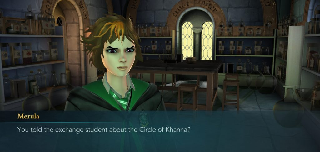 "Merula Snyde doesn't approve of what your character is doing in ""Harry Potter: Hogwarts Mystery"". What else is new?"