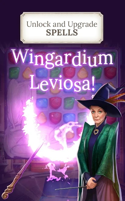 "Professor McGonagall oversees your spellwork in ""Harry Potter: Puzzles & Spells""."