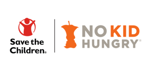 The logos for Save the Children and No Kid Hungry are pictured.