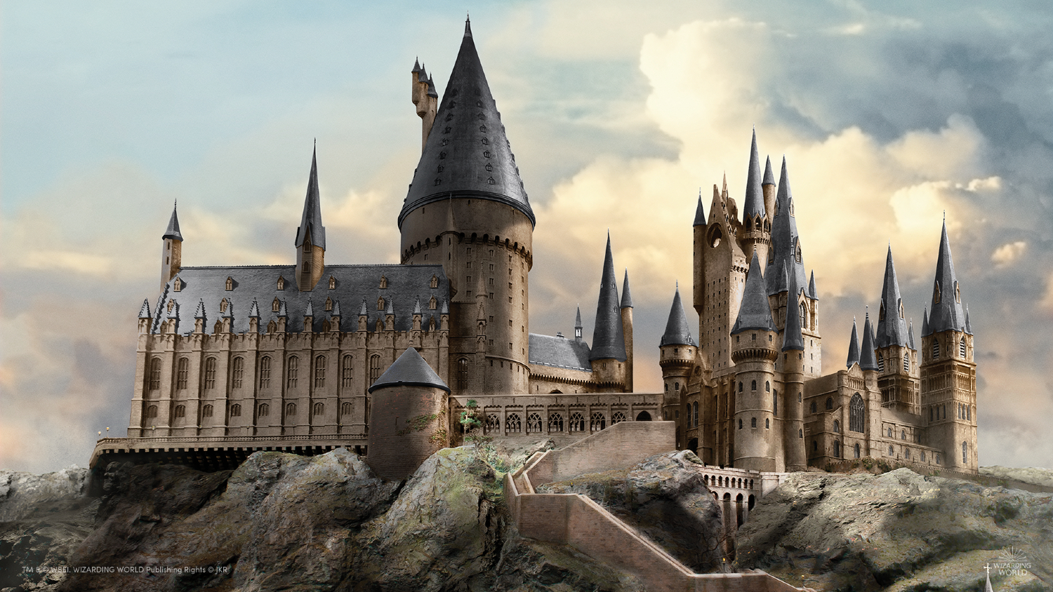 Missing Hogwarts? Take in the magic with this beautiful background of the iconic school.