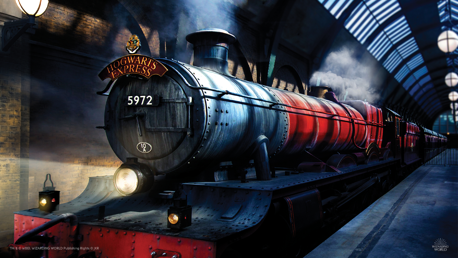 Plan your Hogwarts Express trolley order with this beautiful background of the iconic train.