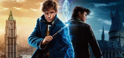 Newt Scamander and Harry Potter representing each film franchise