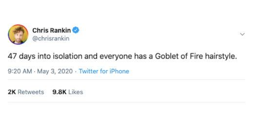 A screenshot of a tweet from Chris Rankin.