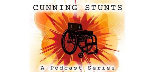 "The logo of David Holmes and Daniel Radcliffe's new podcast ""Cunning Stunts""."