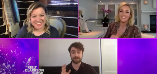 "Daniel Radcliffe talks with Kelly Clarkson and Jane Krakowskion ""The Kelly Clarkson Show""."