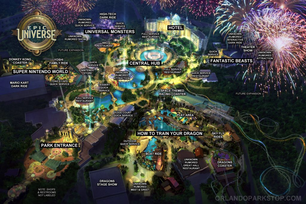 Concept art for Universal Orlando Resort's new theme park, Epic Universe.