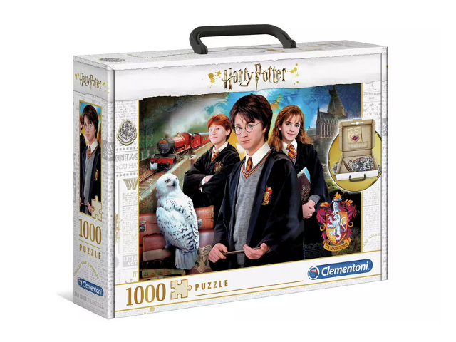 The Harry Potter 1000 Piece Briefcase Jigsaw Puzzle from Argos is pictured.