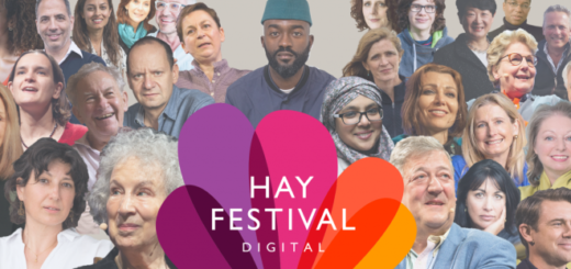 A montage of the speakers for Hay Festival Digital is pictured.