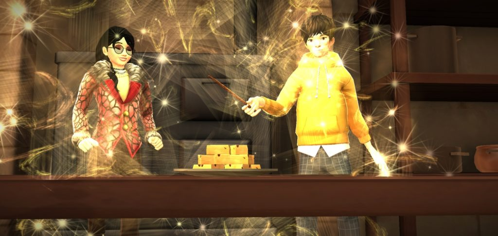 Your character and Jae Kim serve up some magic fudge.